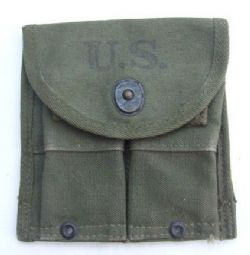 Original USA WW2 M1 Carbine Twin Ammo Pouch-1945. ref.no.ML87